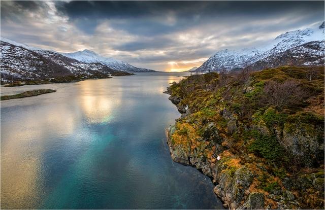Lofoten Fjord Sunset - Greg Earl