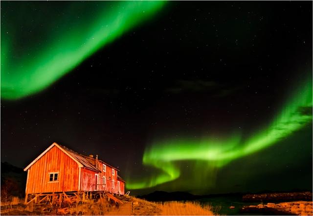 Aurora Over Henningsvaer  - Val Earl